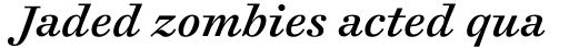 Cosmiqua Pro Semibold Italic sample