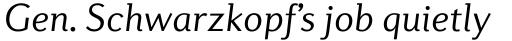Diverda Sans Pro Light Italic sample