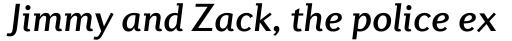 Diverda Sans Pro Medium Italic sample