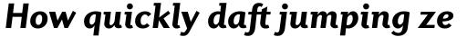 Diverda Sans Pro Black Italic sample