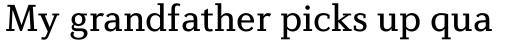 Diverda Serif Pro Regular sample