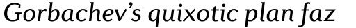 Diverda Serif Pro Italic sample