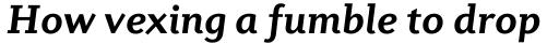 Diverda Serif Pro Bold Italic sample
