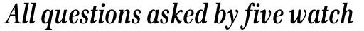 Emona Condensed Bold Italic sample