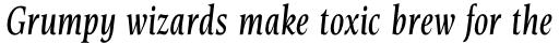 Esperanto Condensed Italic sample