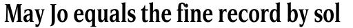 Esperanto Condensed Bold sample