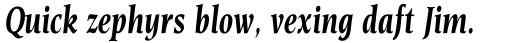 Esperanto Condensed Bold Italic sample
