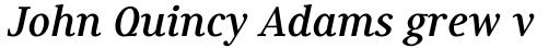 Generis Serif Std Bold Italic sample