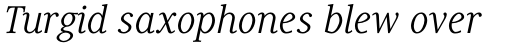 Generis Serif Std Regular Italic sample