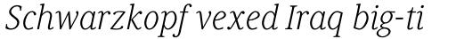 Generis Serif Std Light Italic sample