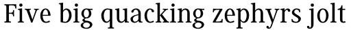 Generis Serif Std Medium sample