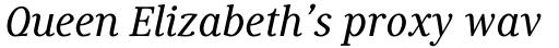 Generis Serif Std Medium Italic sample