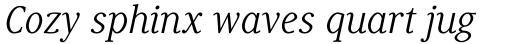 Generis Serif Pro Regular Italic sample