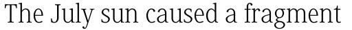 Generis Serif Pro Light sample
