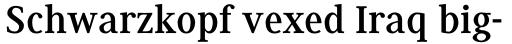 Generis Serif Std Bold sample