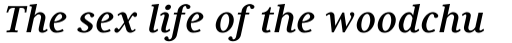 Generis Serif Pro Bold Italic sample