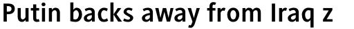 Generis Sans Std Bold sample