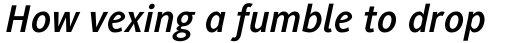 Generis Sans Std Bold Italic sample