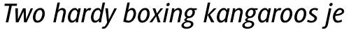 Generis Sans Std Medium Italic sample