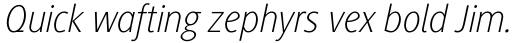 Generis Sans Std Thin Italic sample