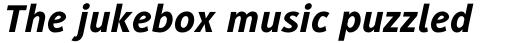 Generis Sans Std Heavy Italic sample