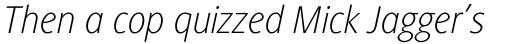 Generis Sans Pro Thin Italic sample