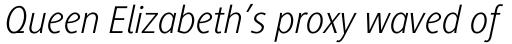 Generis Sans Pro Light Italic sample