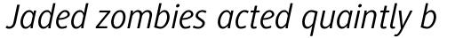 Generis Sans Pro Regular Italic sample