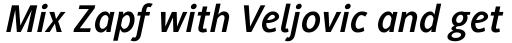 Generis Sans Pro Bold Italic sample