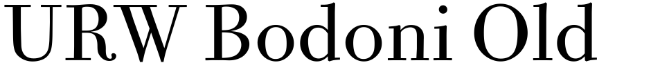 Click to view  URW Bodoni Old Fashion font, character set and sample text