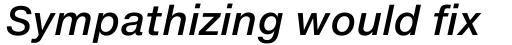 Neue Helvetica eText Std 66 Medium Italic sample