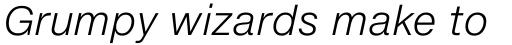 Neue Helvetica eText Std 46 Light Italic sample