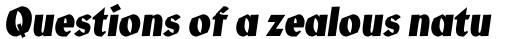 Manofa Condensed Bold Italic sample