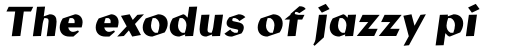 Manofa Bold Italic sample