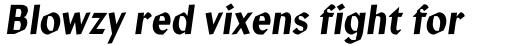 Manofa Condensed Italic sample