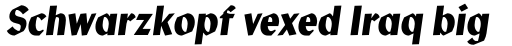Manofa Condensed Medium Italic sample