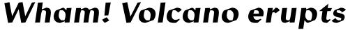 Manofa Medium Italic sample