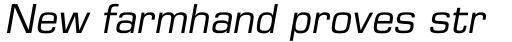 Eurostile LT Pro Oblique sample