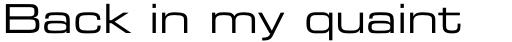 Eurostile LT Pro Extended #2 sample