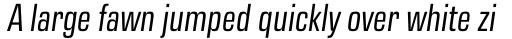 Eurostile Next Pro Condensed Italic sample