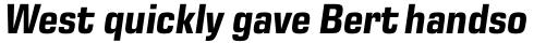 Eurostile Next Pro Narrow Bold Italic sample