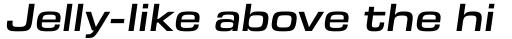 Eurostile Next Extended Semi Bold Italic sample
