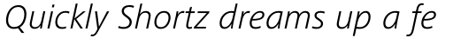 Frutiger Next Cyrillic Light Italic sample