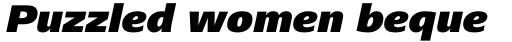 Frutiger Next Cyrillic Black Italic sample