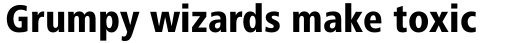 Frutiger Next Cyrillic Condensed Heavy sample