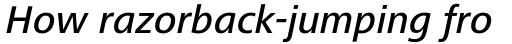 Frutiger Next Cyrillic Medium Italic sample