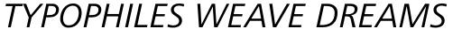 Frutiger Next Greek Italic sample
