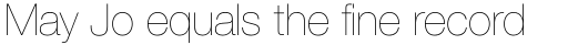 Neue Helvetica Std 25 Ultra Light sample