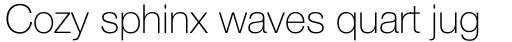 Neue Helvetica Std 35 Thin sample