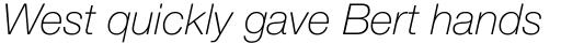 Neue Helvetica Paneuropean 36 Thin Italic sample